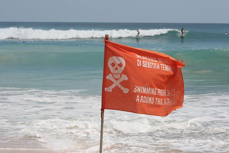 Бали. Красный флаг