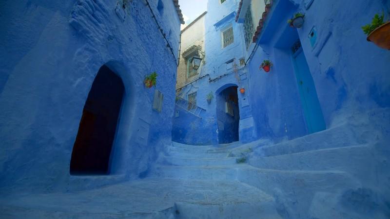 Марокко голубые дома